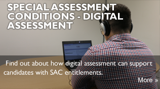 Find out about how digital assessment can support candidates with SAC entitlements