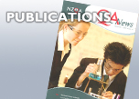 Image of one of NZQA's publications with two secondary students bent over some work on the front cover and links to Annual Report, QA News and EquateNZQA Publications